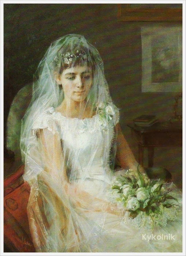 """The Young Bride"" 1887 - Elin Kleopatra Danielson - Gambogi (finsk, 1861-1919)"