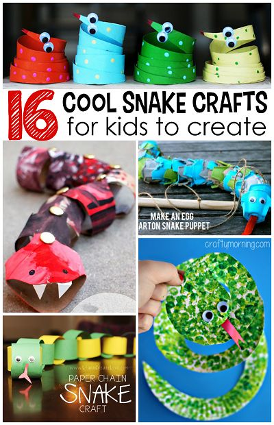 The Coolest Snake Crafts for Kids to Create | CraftyMorning.com