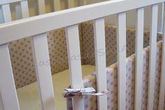 Tutorial de chichonera para cuna de bebé. Cose conmigo en unos sencillos pasos está preciosa chichonera.