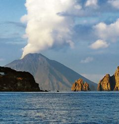 Beautiful scenery of the Aeolian Islands. Salina Sicily