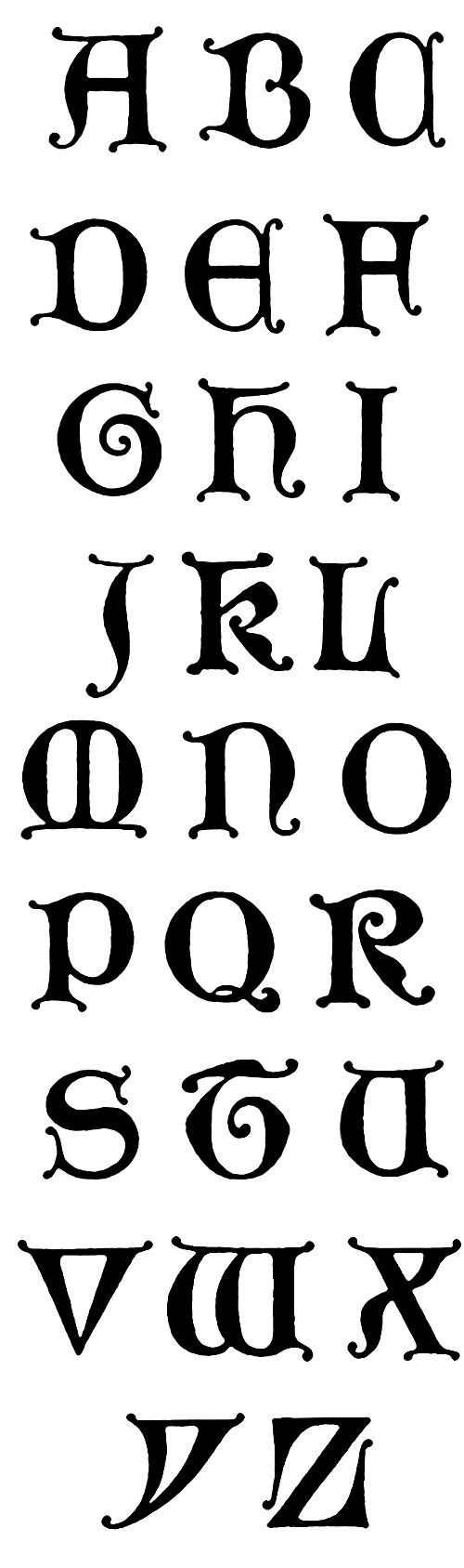 Gothic Lettering :: Unical Gothic Initials