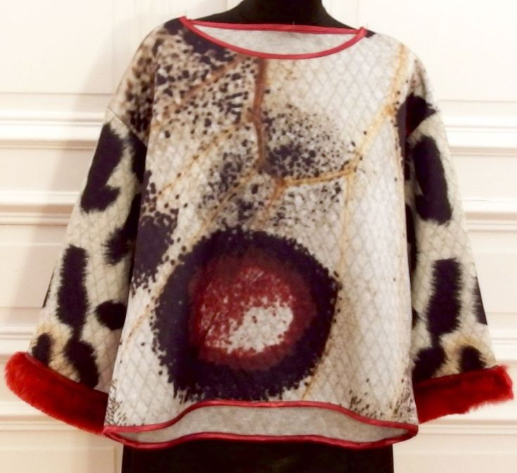 NEU * ED-HARDY-SWEATER, Gr.S, bunt mit Pelz-Besatz an Ärmeln, in Kleidung & Accessoires, Damenmode, Pullover & Strick | eBay