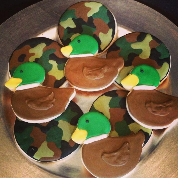 Mallory's duck cookies duck dynasty cookies camo cookies