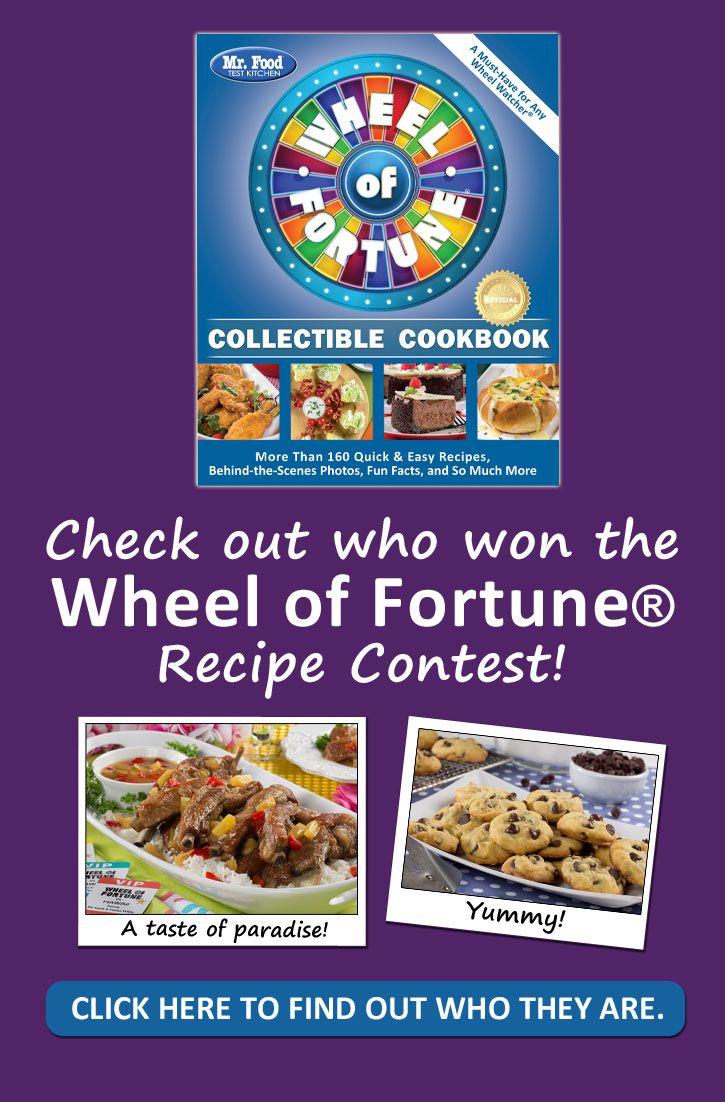 fortune wheel food cookbook recipe contest winners recipes kitchen mrfood test
