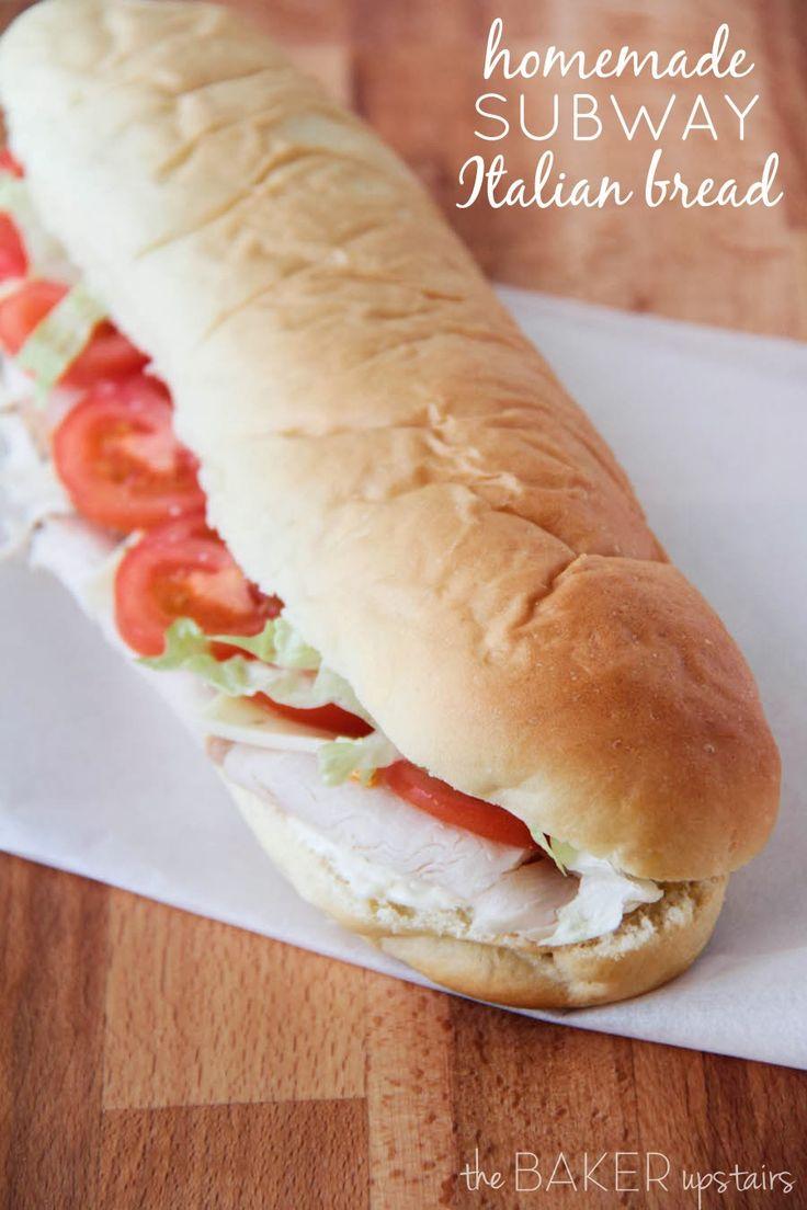 homemade subway italian bread
