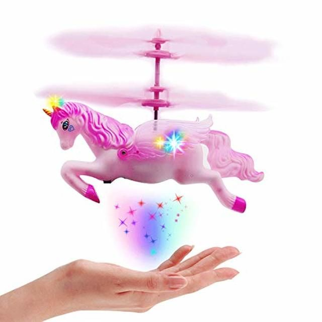Flying Unicorn Toys Gifts For 8 9 10 11 14 Year Old Girls Pink Mini Hand Control Flying Unicorn Fairy Doll Toys For Birthday Children S Day Xmas Party Unicorn Toys Little Girl Toys