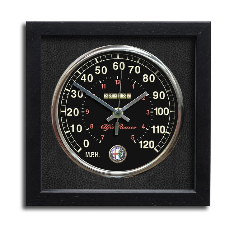 The AlfaRomeo 4C dash rendered as a clock, for the Alfaholic who always wants to be on time! (chronosclocks.com)