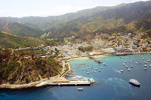 Once I conquer my fear of flying...or decide to take a mega road trip. Avalon, California on Catalina Island