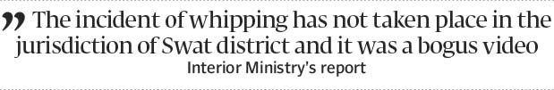 Lashing of woman: Swat flogging video was fake ministry tells SC - The Express Tribune