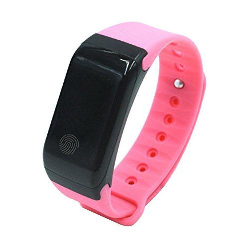 Kobwa X7 IP67 Waterproof Pedometer Heart Rate Monitor Fitness Tracker WatchWireless Smart Bluetooth Sport Activity Tracker Smartband Wristband Bracelet with Sleep Testing Calls Vibration RemindPink * Want to know more, click on the image.