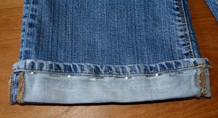 17 meilleures id es propos de jeans ourlets sur pinterest ourlet jeans couture de jeans et - Comment faire un ourlet de jean ...