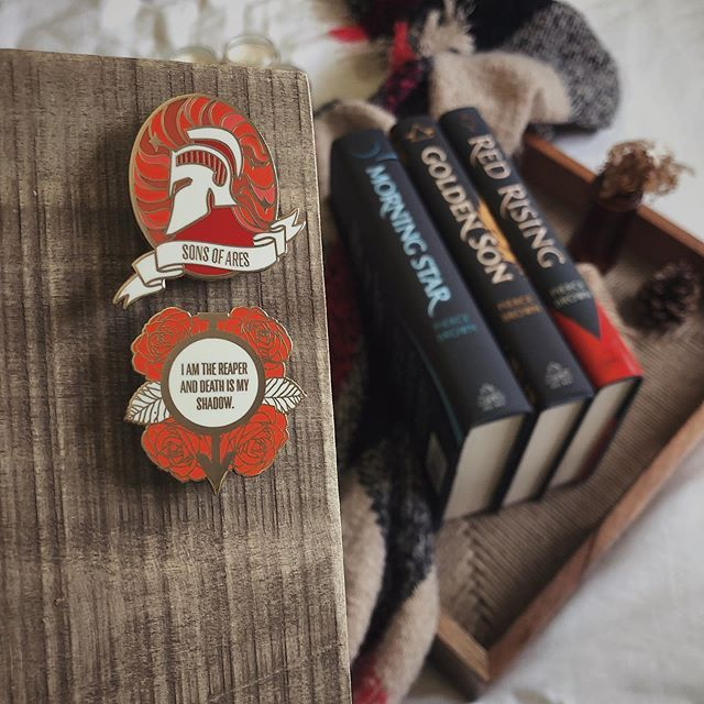 Red Rising Enamel Pins From Moledrocraftco With Images Red