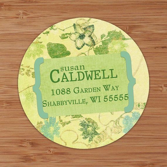 Shabby and Faded Floral Custom Personalized Address Labels or Stickers
