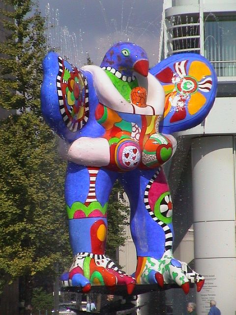 Lifesaver fountain by Niki de Saint Phalle in Duisburg, Germany.