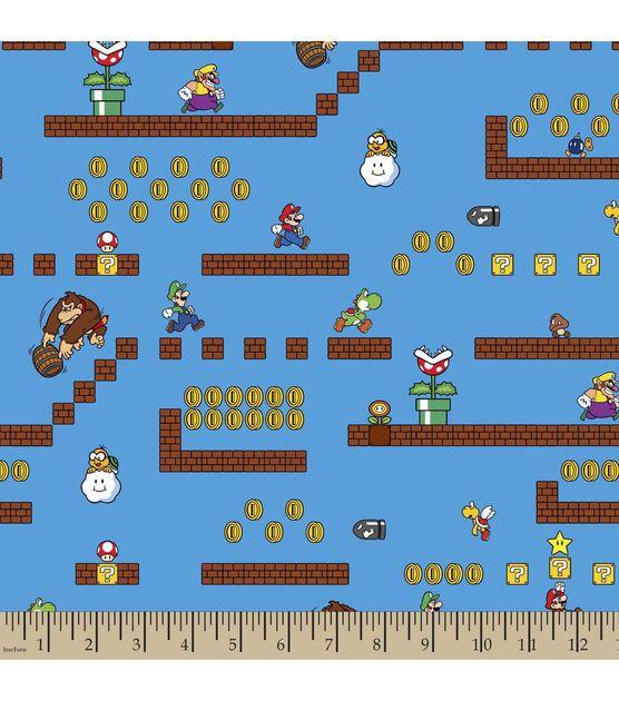 Super Mario Bros Game Scenes Cotton Fabric