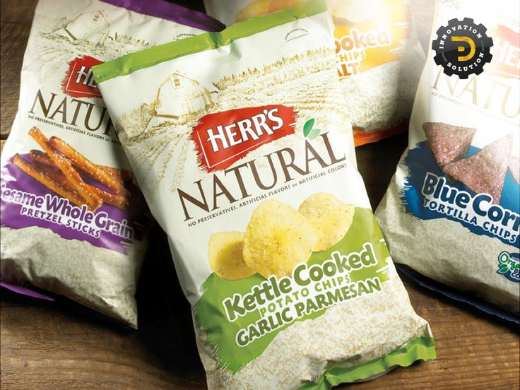 Package Designs for Herr's Natural