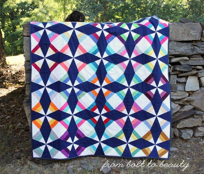 From Bolt to Beauty: A Paper-Piecing Finish