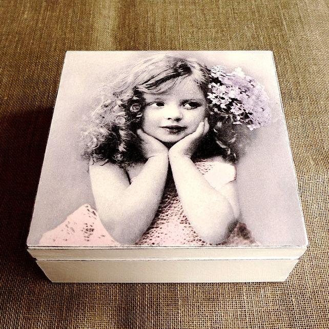jewellery box,Dreamy girl, vintage jewellery box, goft for her, decoupage  £17.00