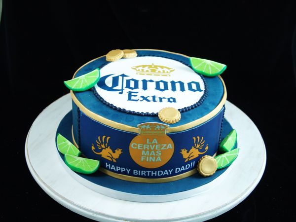 Corona Beer Birthday cake #coronacake