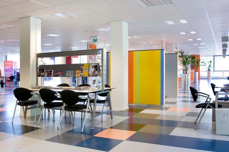 Kaučuková podaha Artigo Multifloor Nd-Uni, pracovní centrum Breda, Nizozemí, / Rubber floor Artigo Multifloor Nd-Uni, Employment Center Breda, Netherlands http://www.bocapraha.cz/cs/produkt/620/multifloor-nd-uni/