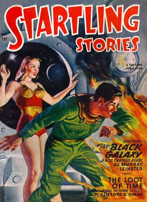 New item in my etsy shopThe Black Galaxy Pulp magazine cover by Earle Bergey for Startling Stories by PanchromaticaDesigns. Find it here http://ift.tt/1qATIbe