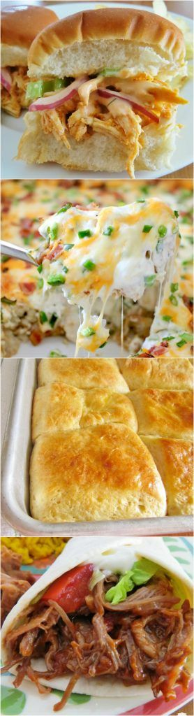 Featured recipes from Meal Plan Sunday include: Jalapeño Popper Tater Tot Casserole, Crock Pot Buffalo Chicken Sliders, Restaurant Style Yeast Rolls, Mexican Shredded Beef, Crock Pot Italian Beef Sandwiches