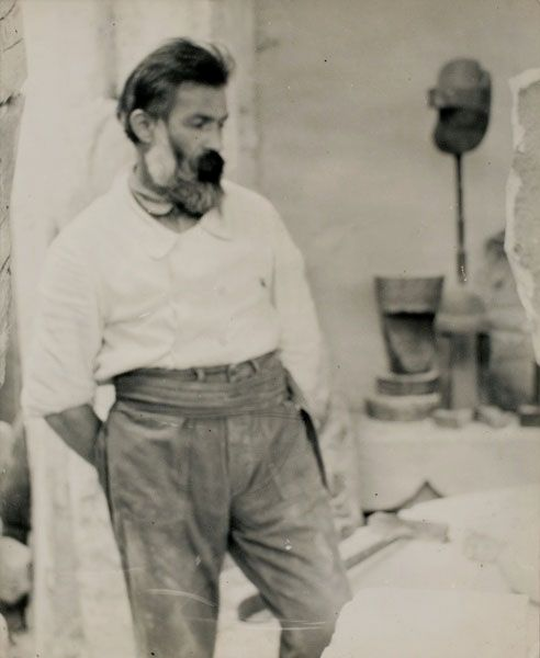 Constantin Brancusi, Self Portrait in the atelier, ca 1922
