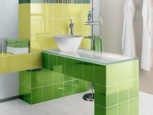 Bathroom Tile Ideas Green 84 best green bathrooms images on pinterest | bathroom ideas