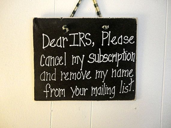 IRS sign taxes April 15 wood by kpdreams on Etsy
