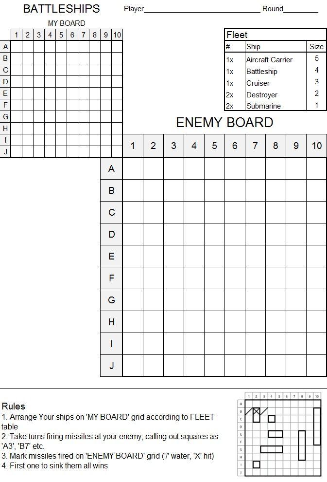As 25 melhores ideias de Battleship game no Pinterest Jogos de - battleship game template