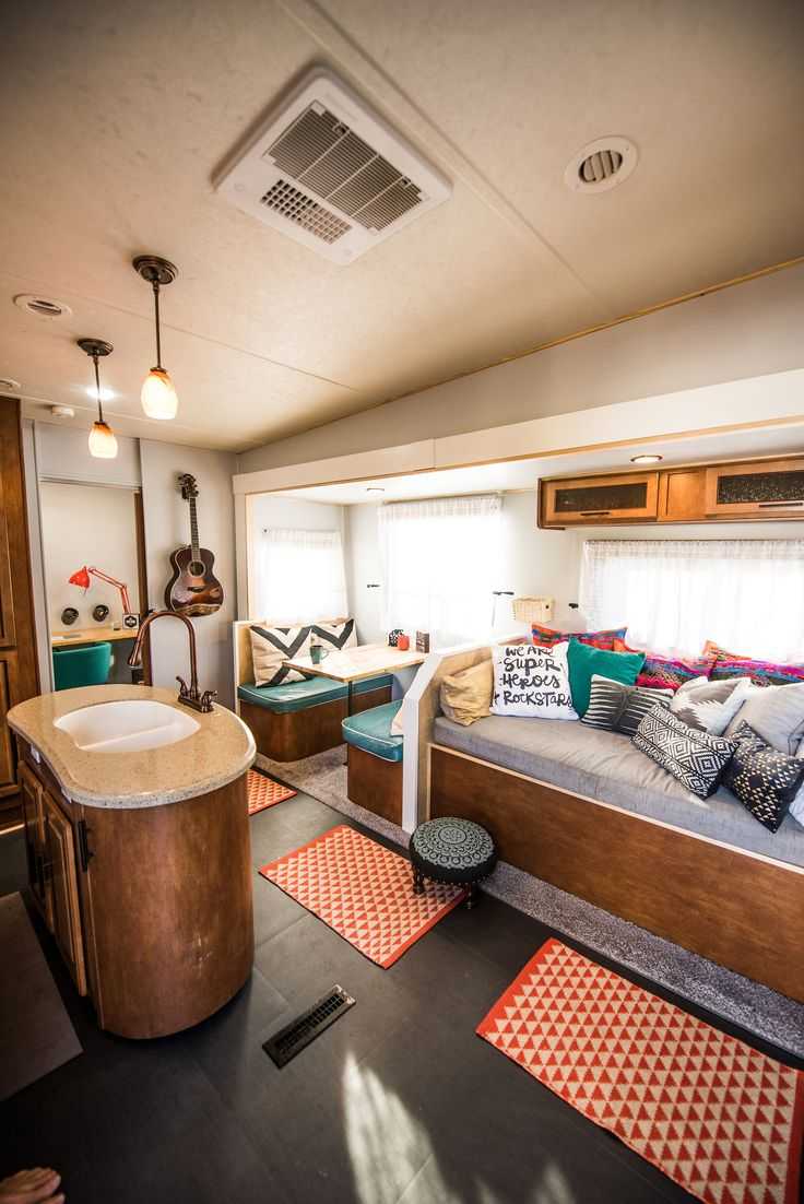 Modern rv interiors - Best 25 Rv Decorating Ideas On Pinterest Rv Storage Trailer Decor And Trailer Organization