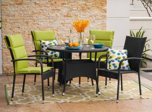 ANDRE Table + 4 PALERMO Chairs | Patio Dining Set