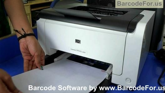 How to make and print Barcode Labels using laser printer