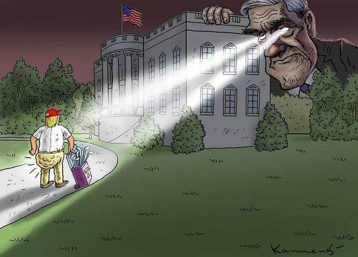 Mueller's Laser Focus Drumpf shittin golf balls!!