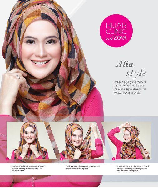 yuk kita praktekkan 3 langkah kreasi hijab modern, Alia Style.