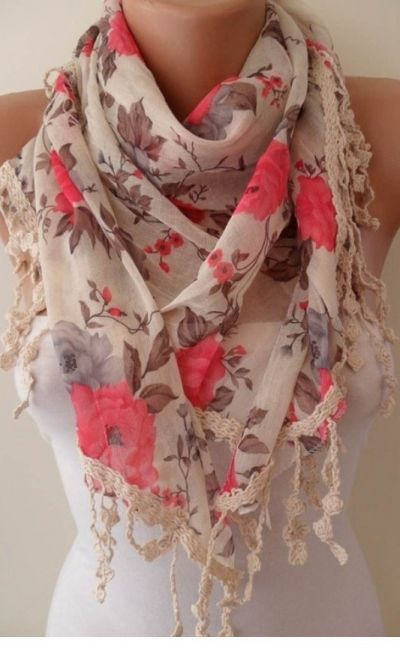 Spring scarf #scarf More