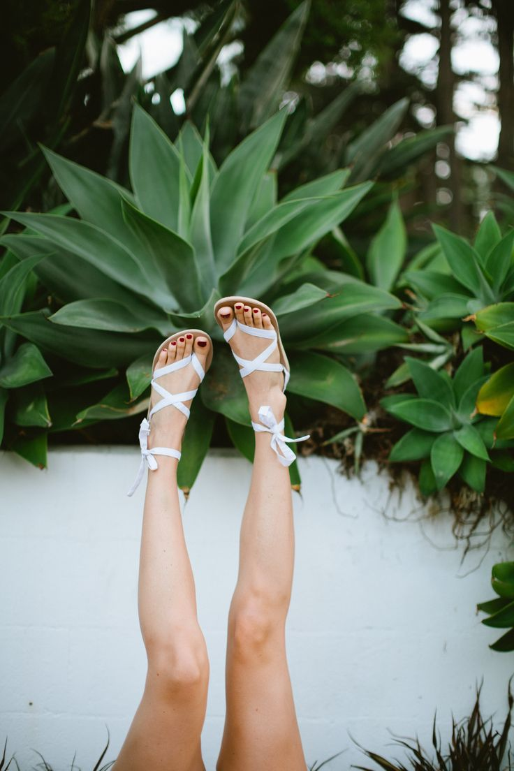 Upside down ribbon sandals! | Sseko Designs -- tie and style these sandals in hundreds of ways!