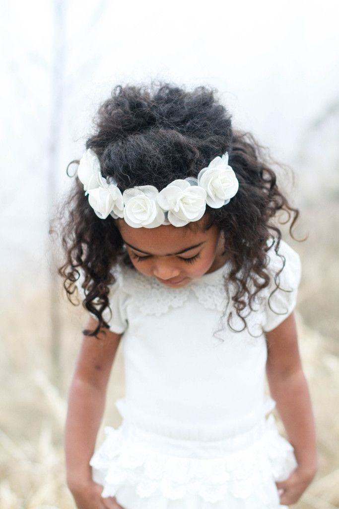 Ivory Dava Crown – Arrow & Lace Designs Floral Crown Headband Girl