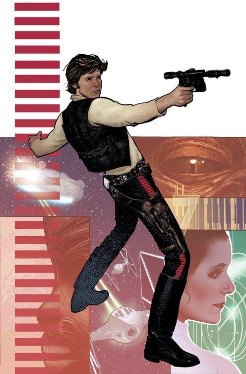 Adam Hughes's covers for Star Wars: Rebel Heist #s 1-4.