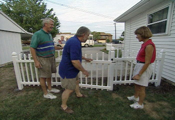 Install a Vinyl Picket Fence to Accent or Surround Your Yard and Coordinate with the House and Porch Rails