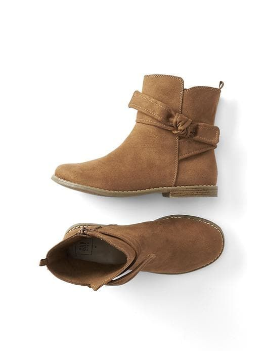 Booties with a bow?  And in a go-with-everything tan?  Done.