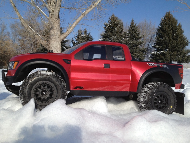 traxxas slash with proline ford raptor true scale body and. Black Bedroom Furniture Sets. Home Design Ideas
