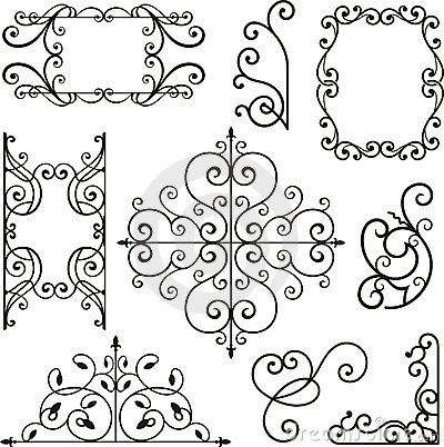 Wrough iron ornaments by Clipart Design, via Dreamstime