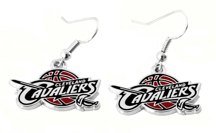 Cleveland Cavaliers Earrings NBA Cavs Logo Dangle Charm Lebron James Gift Set  #BG #ClevelandCavaliers