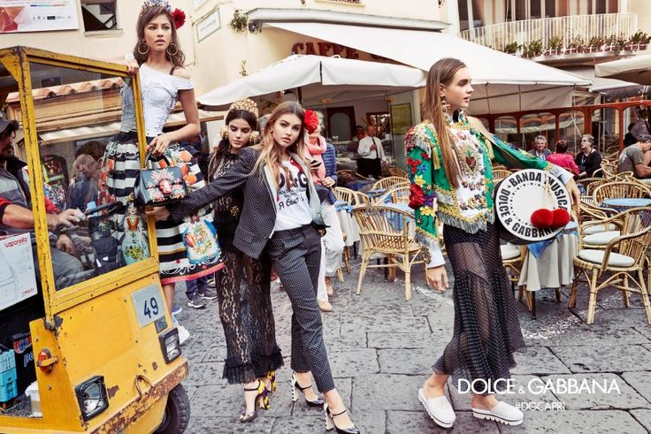 Dolce&Gabbana ad campaign 2017 Spring/Summer