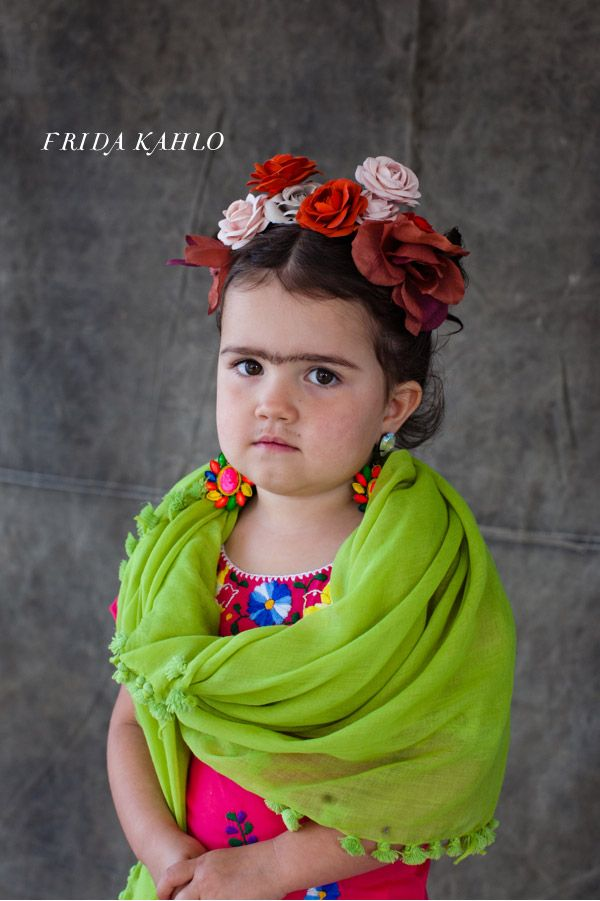 little frida kahlo kids halloween costume now this is a serious halloween costume but the poor kid is most likely wanting to be hello kitty - Best Childrens Halloween Costumes