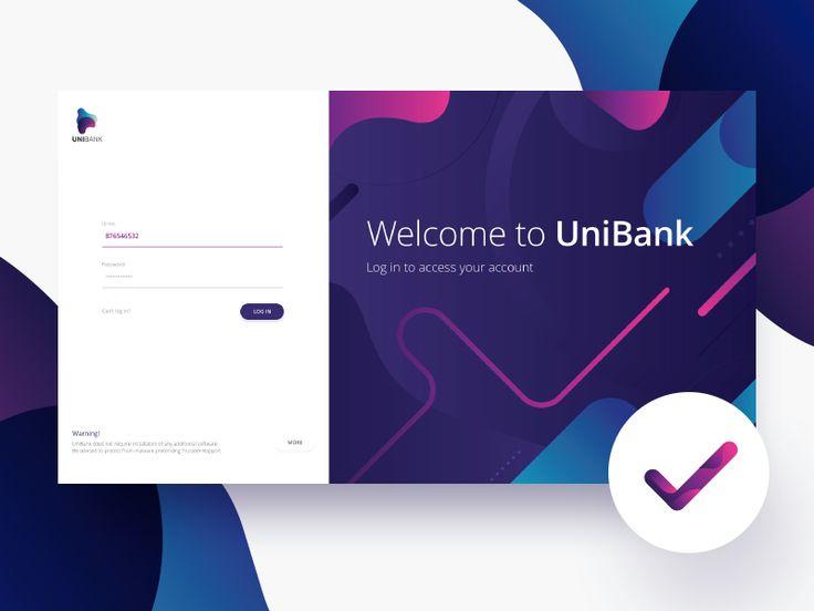 Bank login panel by Damian Denis