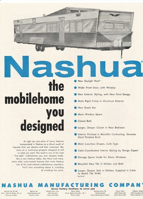 Vintage Mobile Home Ads Week 2