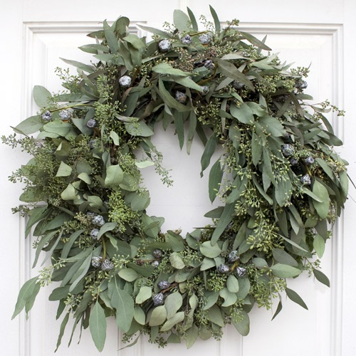 Seeded Eucalyptus Wreath Christmas Ideas Eucalyptus