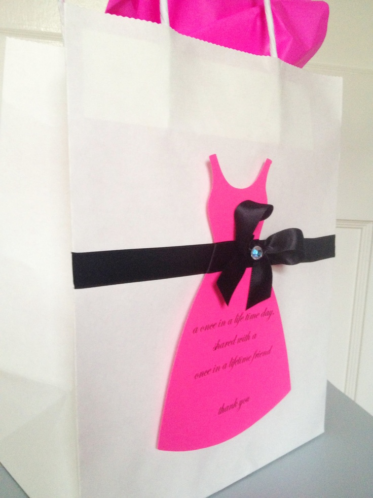 Bridesmaid present maid of honor gift bag by TakeitPersonallybyM, $8.00